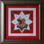 Картина «Вифлеемская звезда»,  ручная работа,  вышивка.