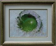 Картина «Сочное яблоко», ручная работа,  вышивка.